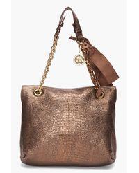 Lanvin | Metallic Happy Leather Shoulder Bag | Lyst