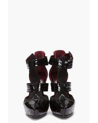Marc Jacobs - Black Two Strap Fetish Heel - Lyst