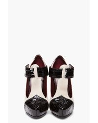 Marc Jacobs - White Fetish T-strap Heels - Lyst