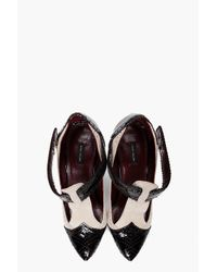 Marc Jacobs | White Fetish T-strap Heels | Lyst