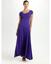 Ralph Lauren Black Label | Purple Silk Jersey Taylor Dress | Lyst