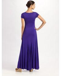 Ralph Lauren Black Label | Purple Silk Jersey Taylor Dress | Lyst