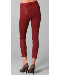 Goldsign - Red Thrill Coated Jeans - Lyst
