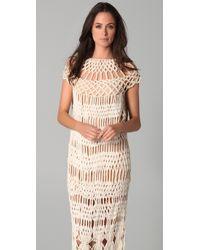 James Long | Natural Full Macrame Dress | Lyst