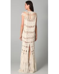 James Long | Natural Full Macrame Dress | Lyst