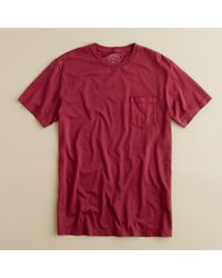 J.Crew | Red Broken-in Pocket Tee for Men | Lyst