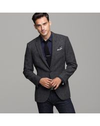 J.Crew | Gray Ludlow Two-button Suit Jacket with Double-vented Back in Birds-eye Tweed for Men | Lyst