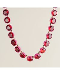 J.Crew | Red Crystal Brûlée Necklace | Lyst