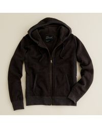 J.Crew | Brown Utility Fleece Sherpa-lined Hoodie for Men | Lyst