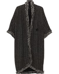 M Missoni | Black Blanket Stripe Cape | Lyst