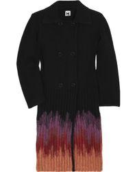 M Missoni | Black Ombré Wool-blend Cardi-coat | Lyst