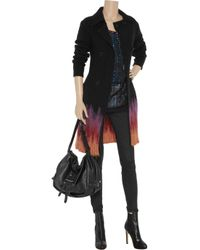M Missoni - Black Ombré Wool-blend Cardi-coat - Lyst