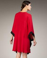 Naeem Khan - Red Jewel-waist Caftan Dress - Lyst