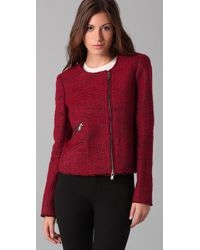 Rebecca Minkoff - Red Sigrid Boucle Jacket - Lyst