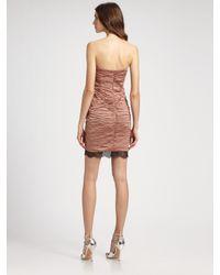 BCBGMAXAZRIA - Pink Strapless Rachael Dress - Lyst