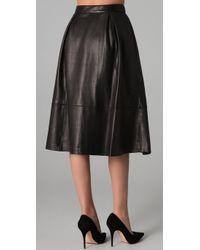 Elizabeth and James - Black Ginny Leather Skirt - Lyst