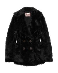 Juicy Couture | Black Faux Fur Coat | Lyst