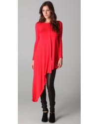 LNA | Red Asymmetrical Tunic | Lyst