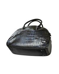 Roccobarocco - Nikole - Blue Croco Stamped Eco-leather Bowler Bag - Lyst