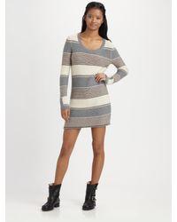 Splendid - Multicolor Striped Wool-blend Sweater Dress - Lyst
