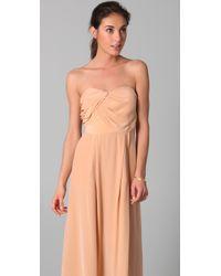 Zimmermann   Natural Strapless Tucked Maxi Dress   Lyst