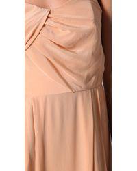 Zimmermann - Natural Strapless Tucked Maxi Dress - Lyst