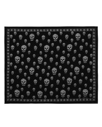 Alexander McQueen - Black Skull Devoré Scarf - Lyst