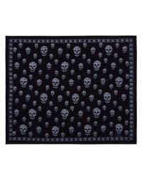 Alexander McQueen - Black Big Skull Wool & Cashmere Shawl - Lyst