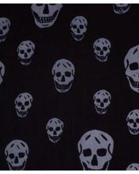 Alexander McQueen | Black Big Skull Wool & Cashmere Shawl | Lyst