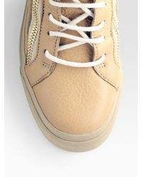 Giuseppe Zanotti | Natural Studded High-top Sneakers | Lyst