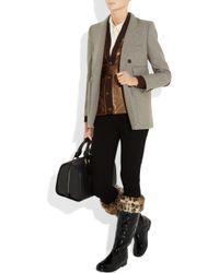 HUNTER - Black Faux Fur-trimmed Fleece Wellington Socks - Lyst