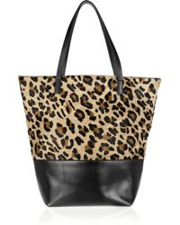 Maje | Multicolor Ketchup Leopard-print Calf Hair and Leather Tote | Lyst