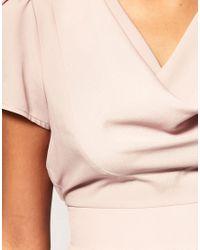 ASOS Collection   Pink Asos Petite Cowl Neck Workwear Dress   Lyst