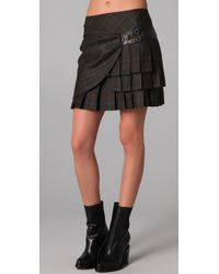 L.A.M.B. | Green Short Plaid Kilt Skirt | Lyst