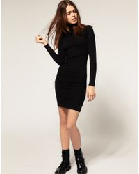 American Apparel - Black Polo Neck Dress - Lyst