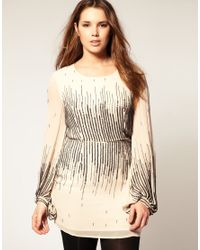 ASOS Collection - Natural Asos Curve Scatter Sequin Dress - Lyst