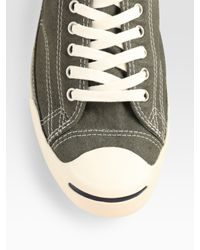 Converse - Gray Jack Purcell Low Profile Oxford Sneakers for Men - Lyst