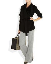 Donna Karan - Black Stretch Cashmere-blend Track Pants - Lyst