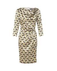 Etro | Metallic Silk Geometric Dress | Lyst