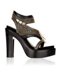 Givenchy | Black Zipper Platform Sandals | Lyst