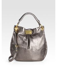 Marc By Marc Jacobs - Classic Q Metallic Leather Hillier Hobo Bag - Lyst