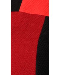 MILLY - Red Colorblock Mina Dress - Lyst