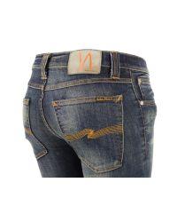 Nudie Jeans | Blue Tight Long John- Dark Strikey Jeans | Lyst
