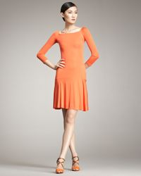 Ralph Lauren | Orange Varana Flouncy Jersey Dress | Lyst