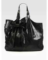 RED Valentino | Black Large Bow Hobo Bag | Lyst