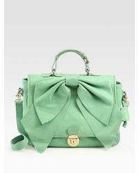 RED Valentino | Green Bow Top Handle Bag | Lyst