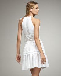 Roberto Cavalli   White Lace-inset Dress   Lyst
