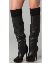 Sam Edelman - Black Remy Over The Knee Top Line Boots - Lyst