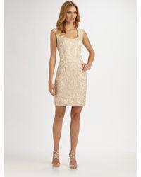 Sue Wong | Metallic Beaded Dress | Lyst