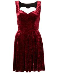 TOPSHOP | Purple Velvet Heart Back Prom Dress By Dress Up | Lyst